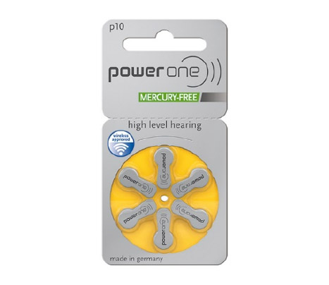 Size 10 hearing aid battery yellow