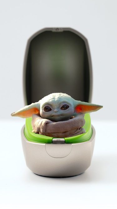 baby yoda in a phonak mini charger