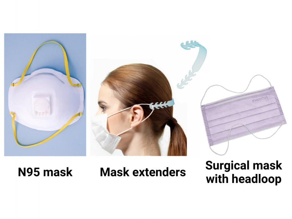 types of masks to wear to prevent hearing aids falling off (1)